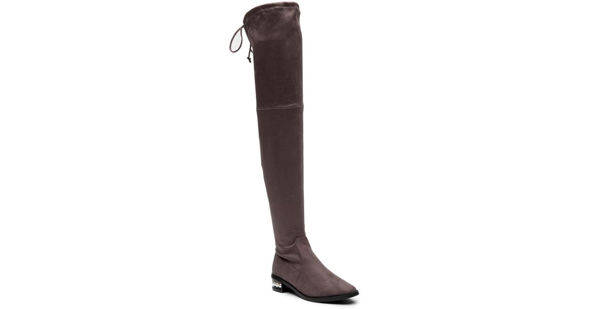 977120018c9 Lyst - Catherine Malandrino Perse Embellished Over-the-knee Boot in Gray