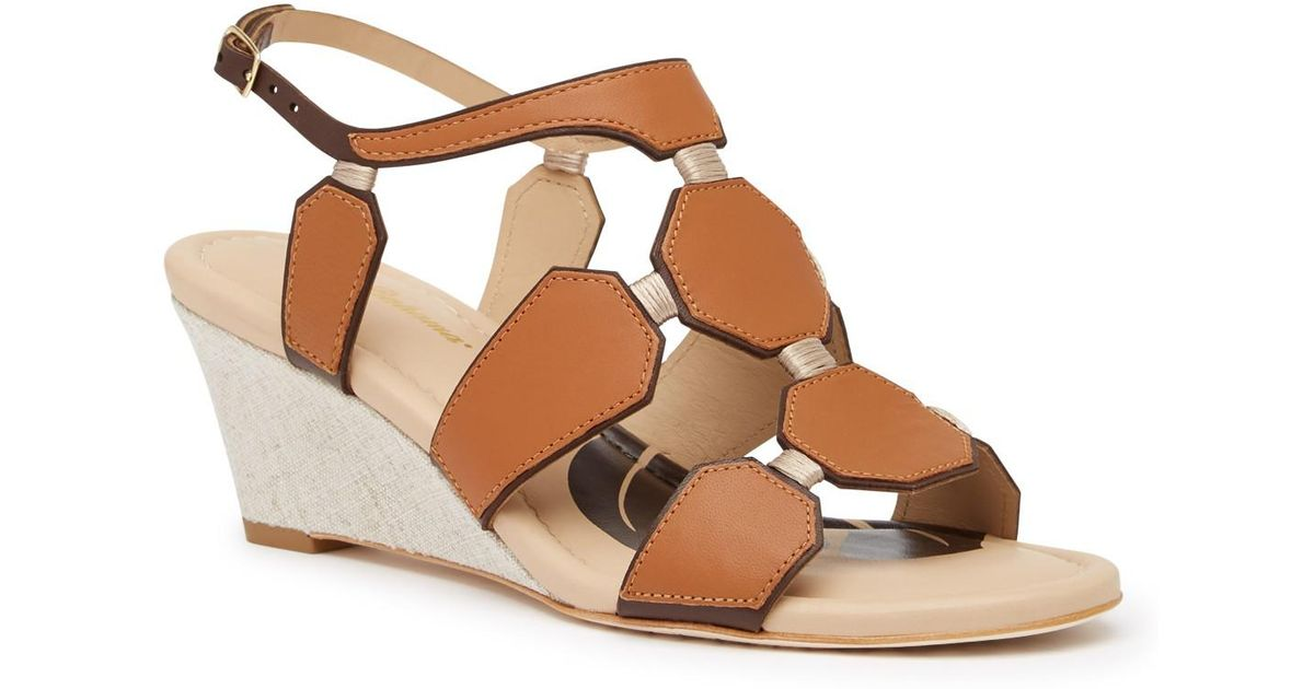 3baf69eb7 Lyst - Tommy Bahama Sunset Beach Leather Wedge Sandal in Brown