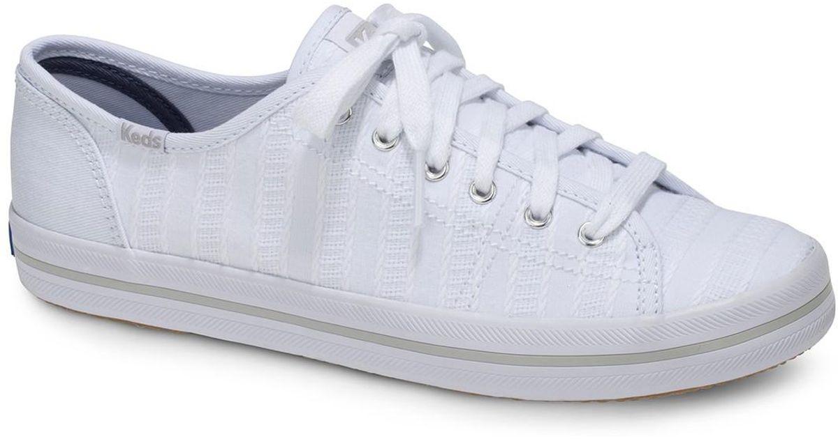 32a557a39d6 Lyst - Keds Kickstart Eyelet Stripe Sneaker in White
