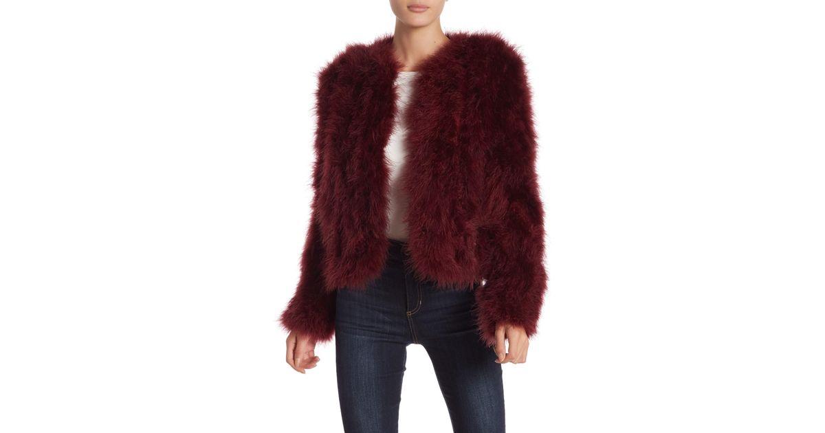 f0baf5b4bdf Lamarque Feather Boxy Jacket in Purple - Save 17% - Lyst