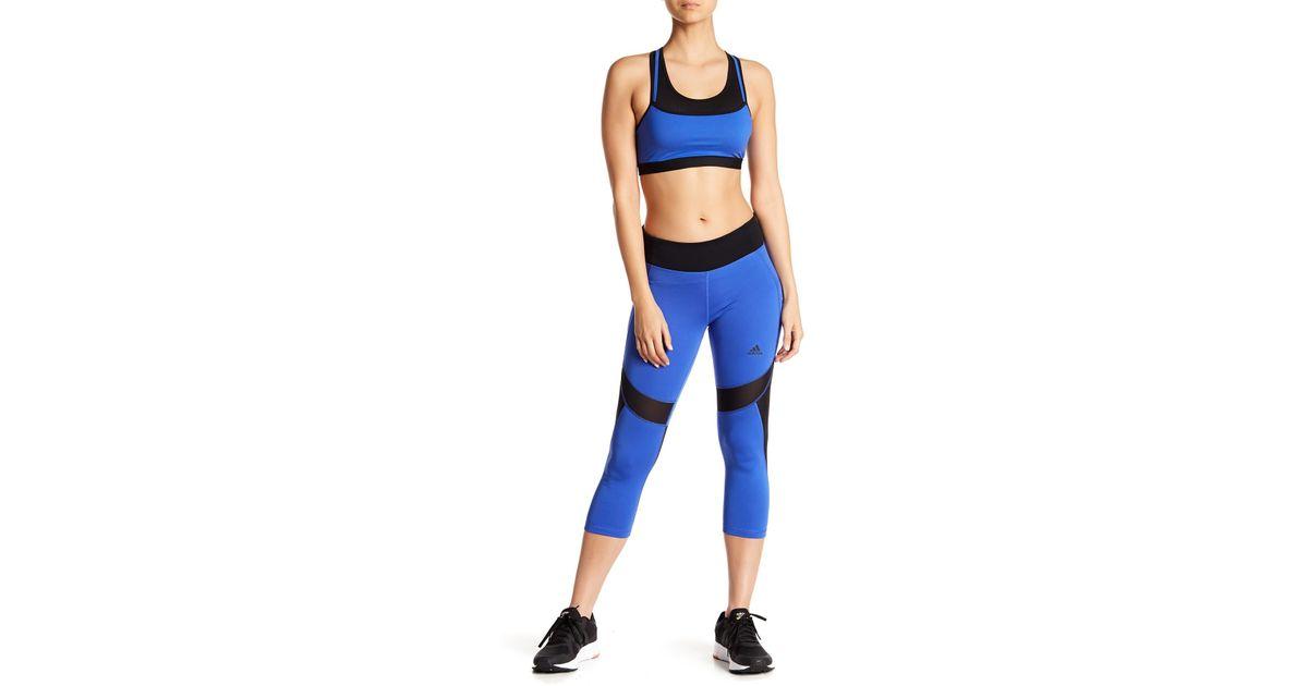 leggings blu adidas
