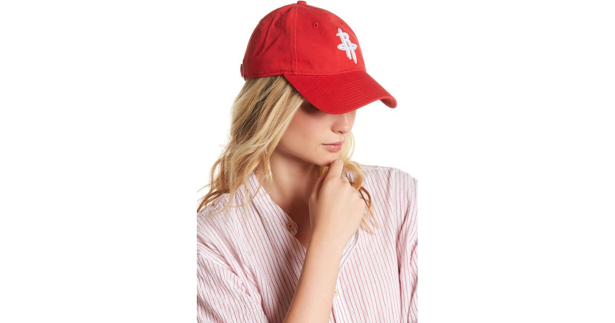 Lyst - Ktz Houston Rockets Baseball Cap in Red 75ca7616c06