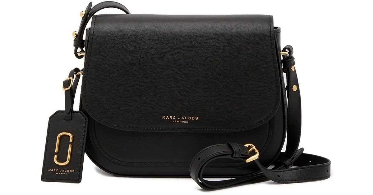 Lyst - Marc Jacobs Rider Leather Crossbody Bag in Black