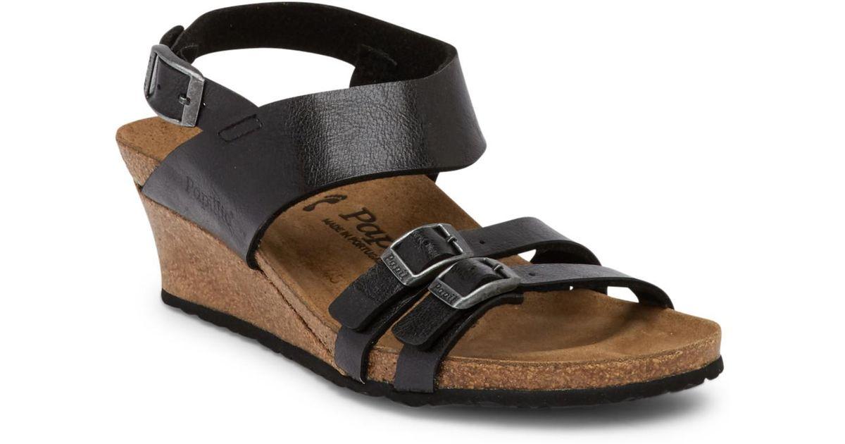 85de3f7a04d0 Lyst - Birkenstock Ellen Licorice Wedge Sandal - Discontinued in Black