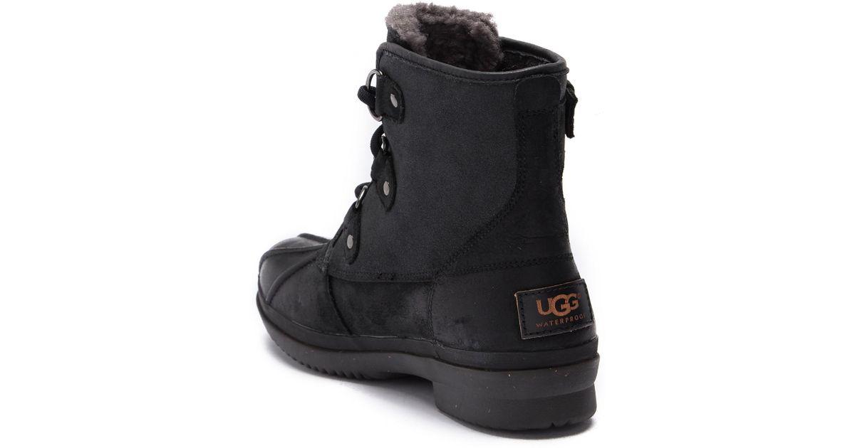 9f58bb28317 Ugg Black (r) Cecile Waterproof Boot (women)