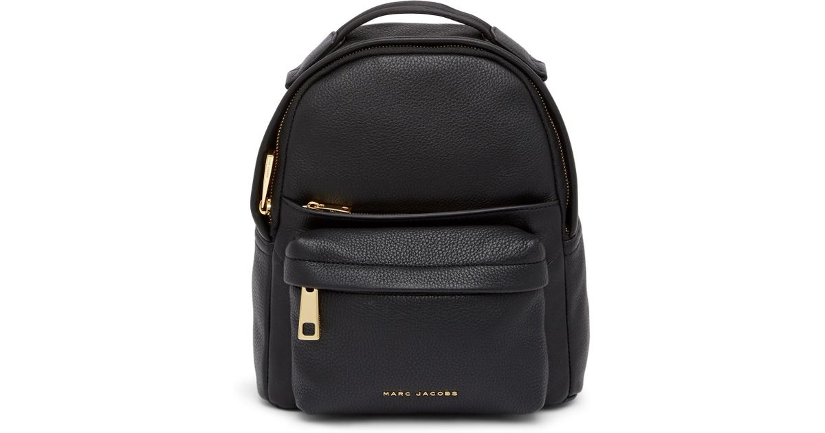 e1043d4baba Lyst - Marc Jacobs Varsity Pack Small Leather Backpack in Black