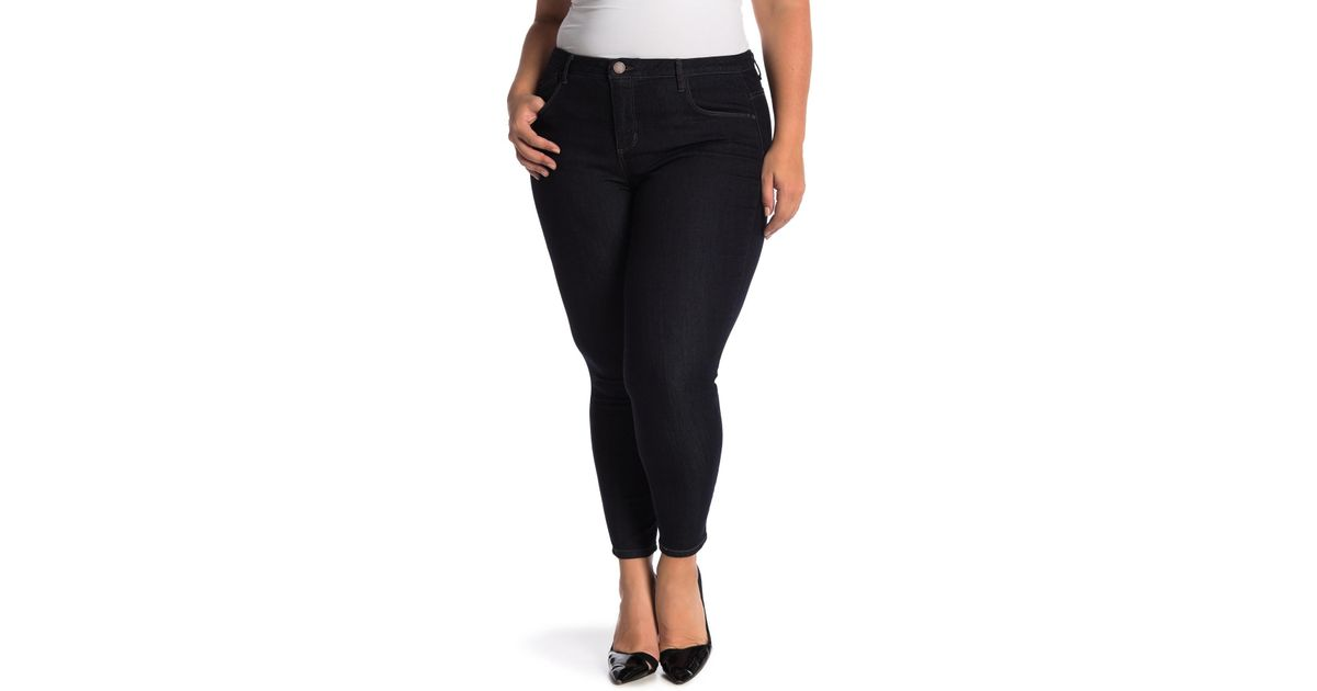 d8ed8623719 Lyst - Democracy High Rise Tummy Control Ankle Skinny Jeans (plus Size) in  Blue