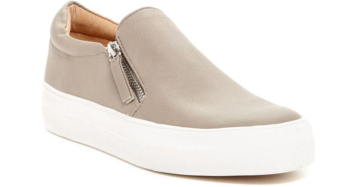 83f07907093 Lyst - Steve Madden Glaammar Zip Embossed Sneaker in Gray