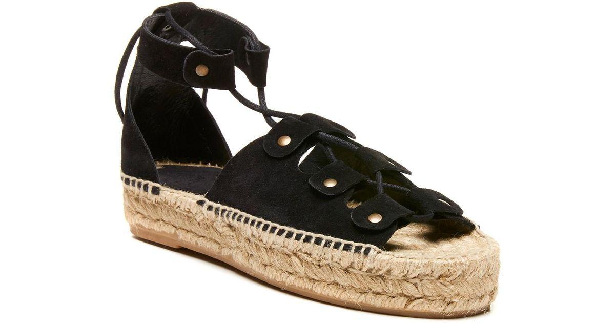9143208d243c Lyst - Soludos Ghillie Platform Sandal in Black