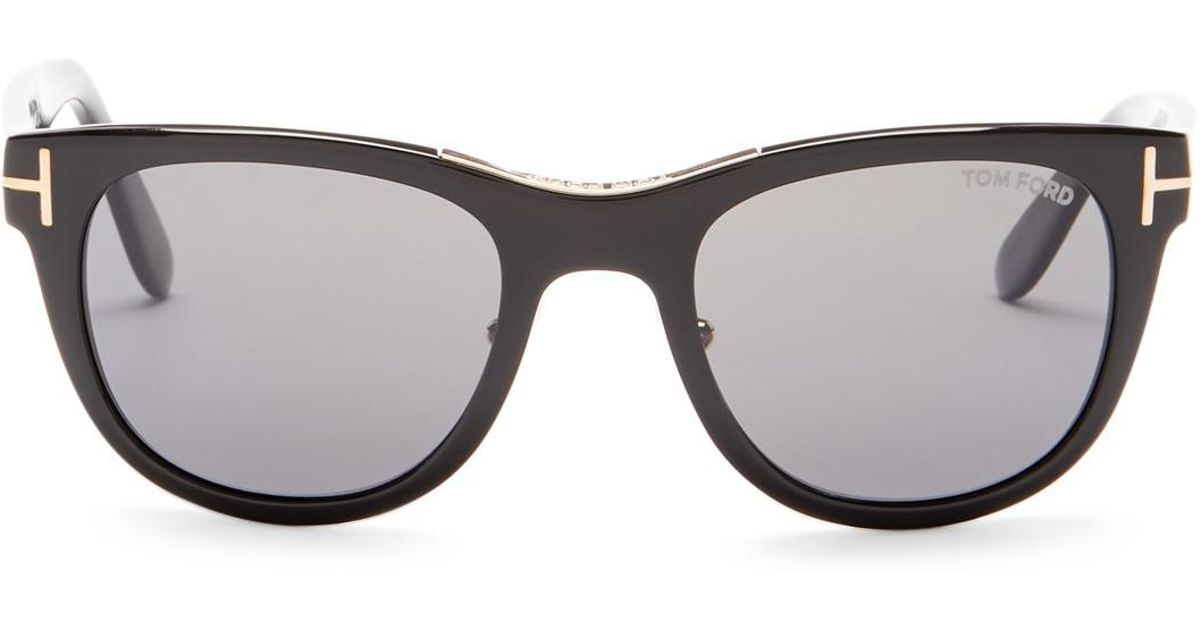 26a480837b0 Tom Ford Women s Jack Polarized Round Sunglasses in Gray - Lyst