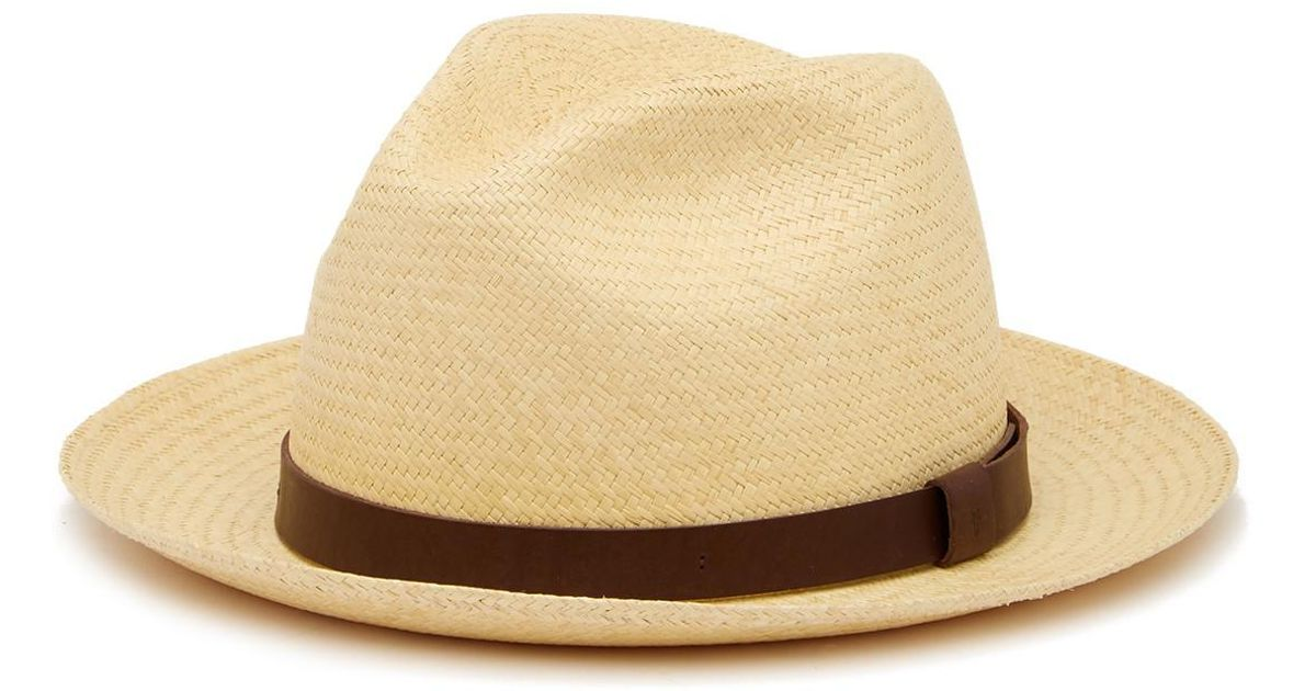 7fcf50ee01a Lyst - Frye Addison Panama Hat in Natural for Men