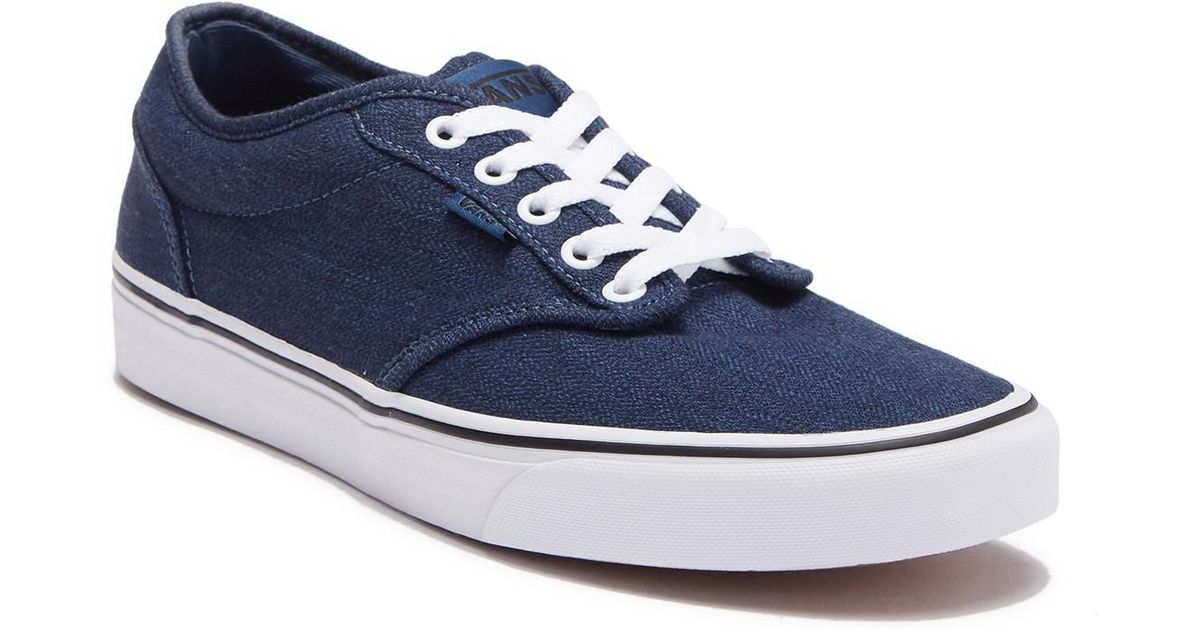 2d77d9a7b571 Lyst - Vans Atwood Denim Sneaker in Blue for Men