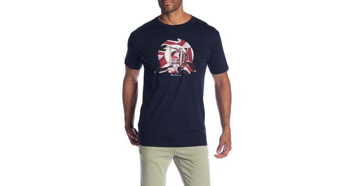 ee05f1c6b Lyst - Ben Sherman Scooter Target Graphic Tee in Blue for Men