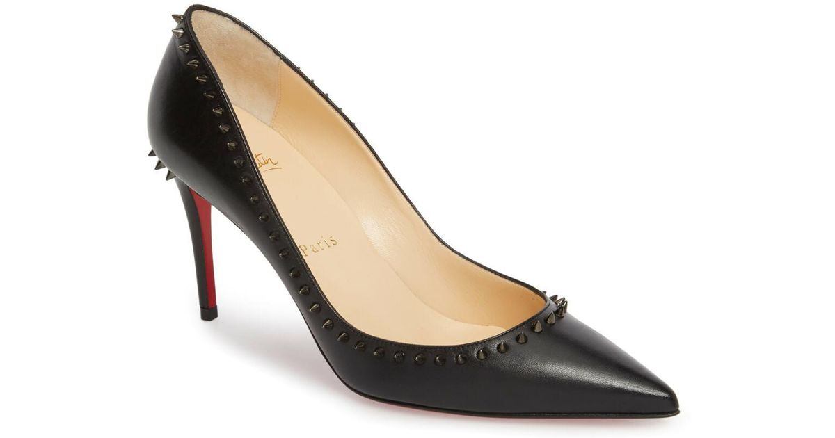 a3fa1c31585d Lyst - Christian Louboutin Anjalina Spiked Pointy Toe Pump (women) in Black