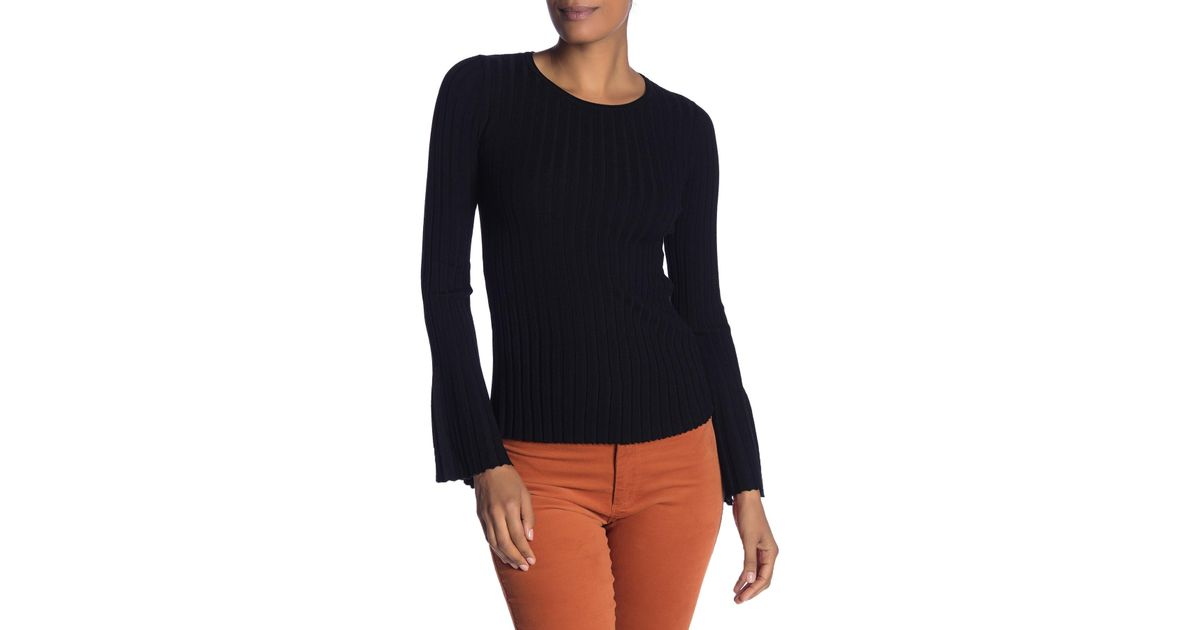 4cfeda63648ab Lyst - Bailey 44 Ribbed Bell Sleeve Top in Black