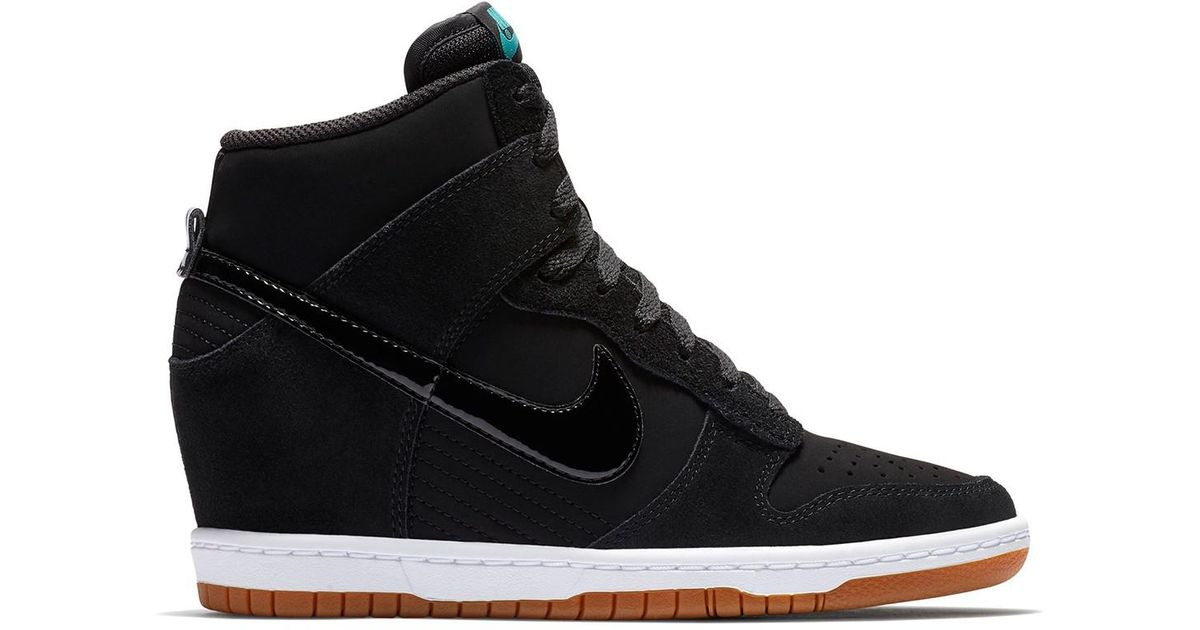 finest selection 8cbcb b27bc Lyst - Nike Dunk Sky Hi Essential Wedge Sneaker in Black