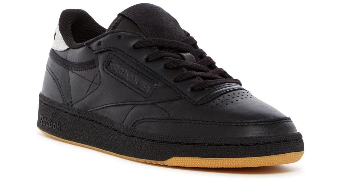 d34fb50ea93 Lyst - Reebok Club C 85 Diamond Sneaker in Black for Men