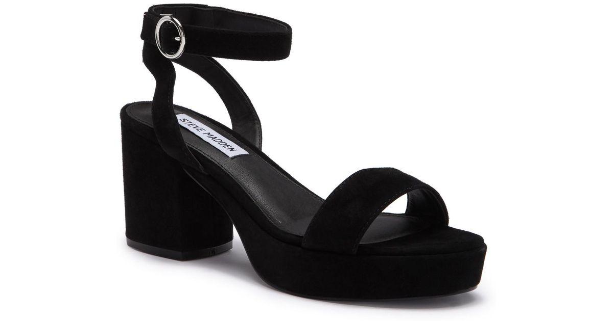 968d32ed52e Lyst - Steve Madden Eris Block Heel Sandal in Black