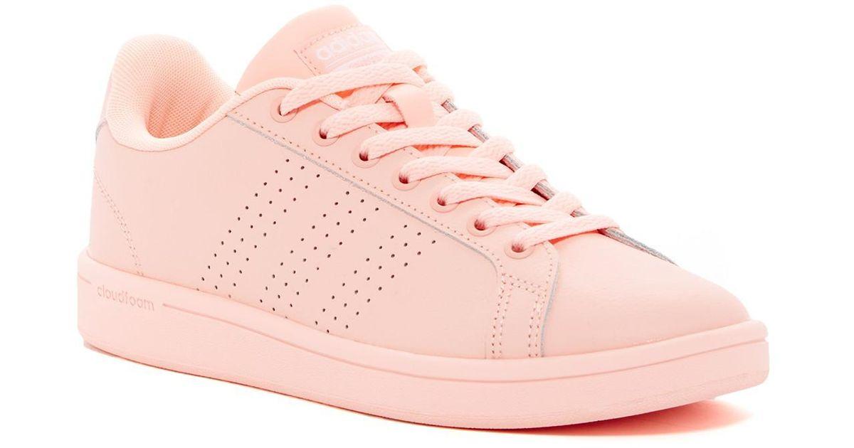 lyst adidas cloudfoam vantaggio pulito scarpe rosa