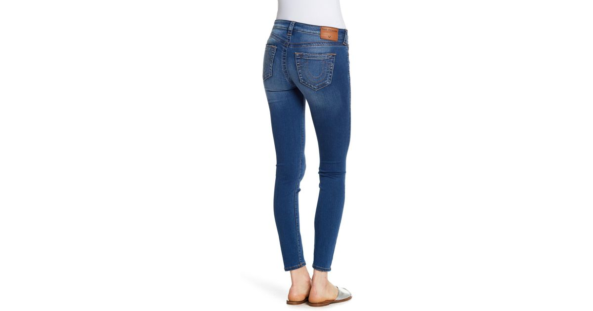 f9350faff True Religion Halle Mid Rise Super Skinny Jeans in Blue - Lyst