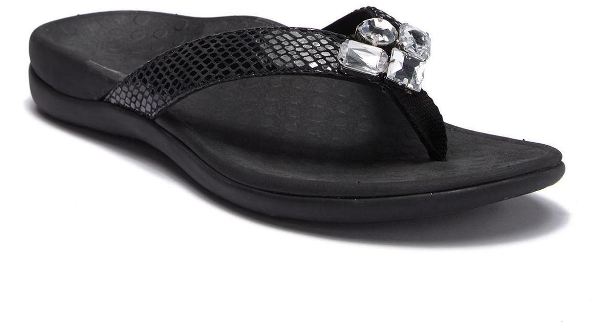 eb589124b5aa Lyst - Vionic Tide Jewel Sandal in Black