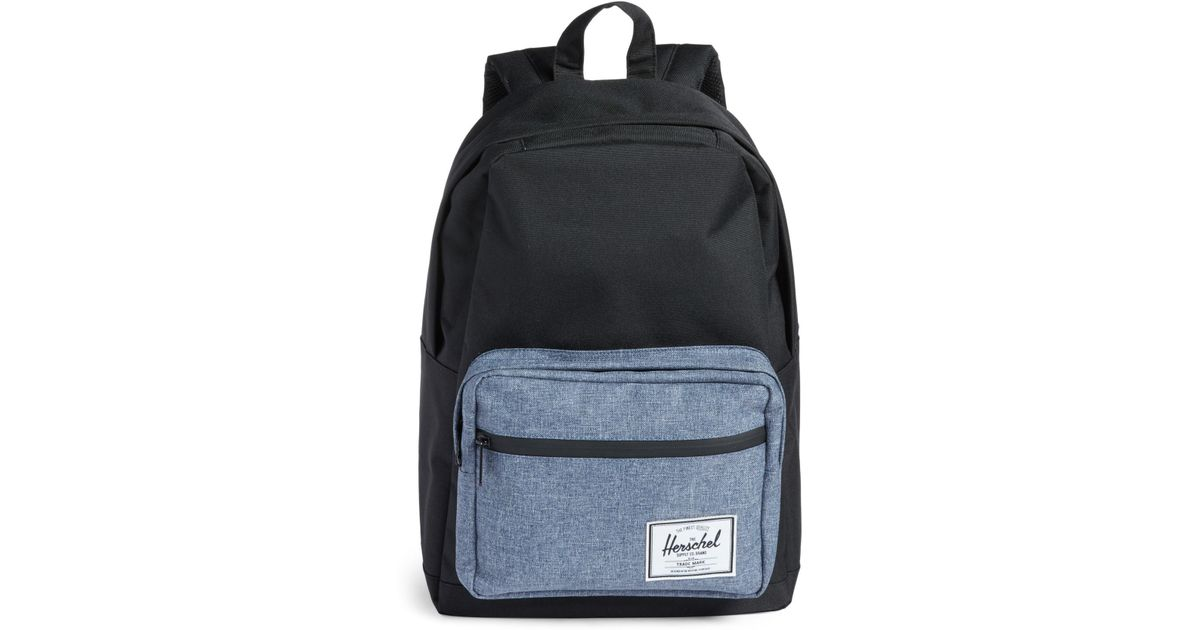 4e8f9d23cd4a Lyst - Herschel Supply Co. Pop Quiz - Chambray Backpack in Black for Men