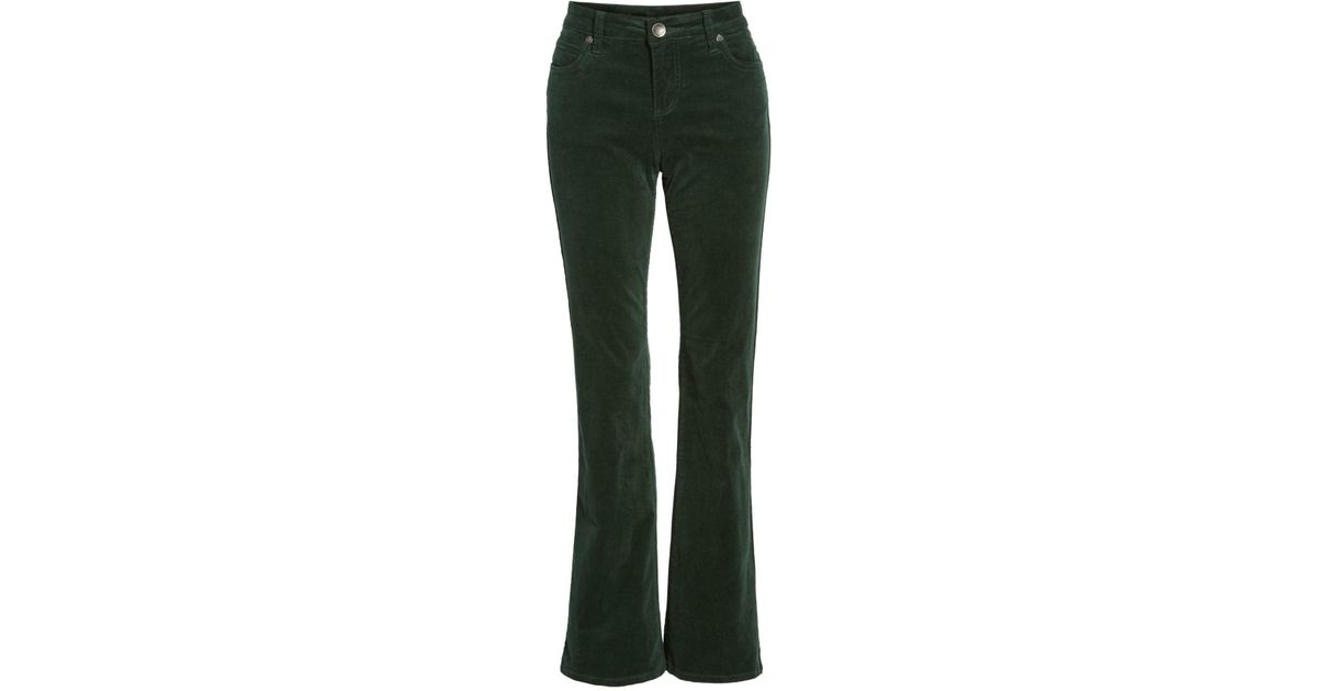 11f96dec41b Lyst - Kut From The Kloth Baby Bootcut Corduroy Jeans (petite) in Green