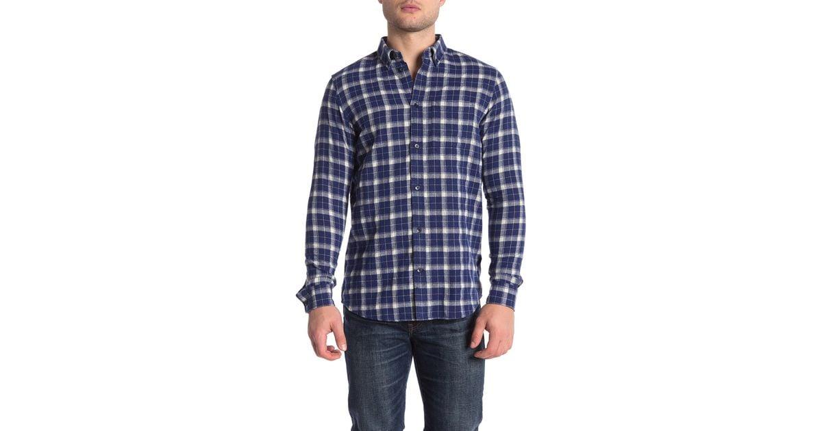 34ccdfcb62c Lyst - Wesc Plaid Flannel Regular Fit Shirt in Blue for Men
