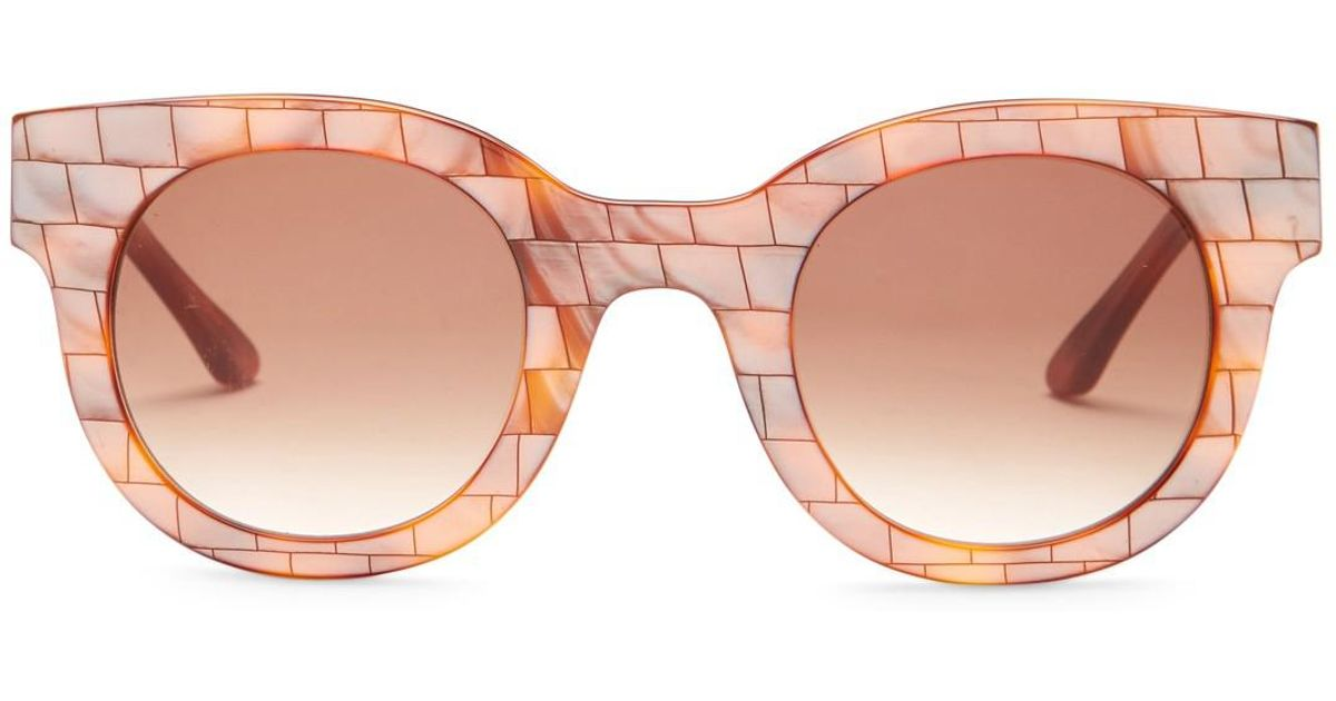 08f820bd60 Lyst - Thierry Lasry Women s Celebrity Round Acetate Frame Sunglasses