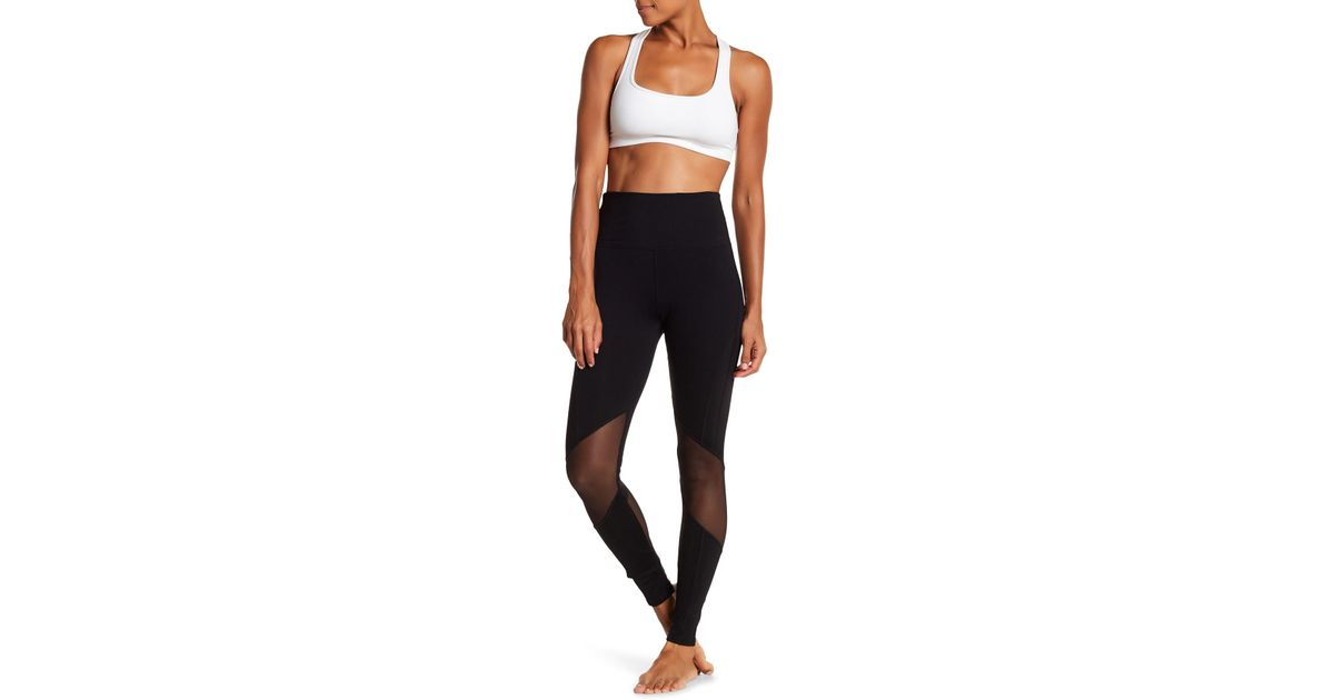 83a32148410d7e Lyst - Electric Yoga Tasteful Mesh Inset Leggings in Black