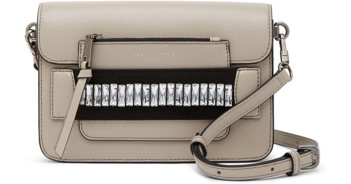 212e375ae78e Lyst - Marc Jacobs Medium Embellished Leather Shoulder Bag
