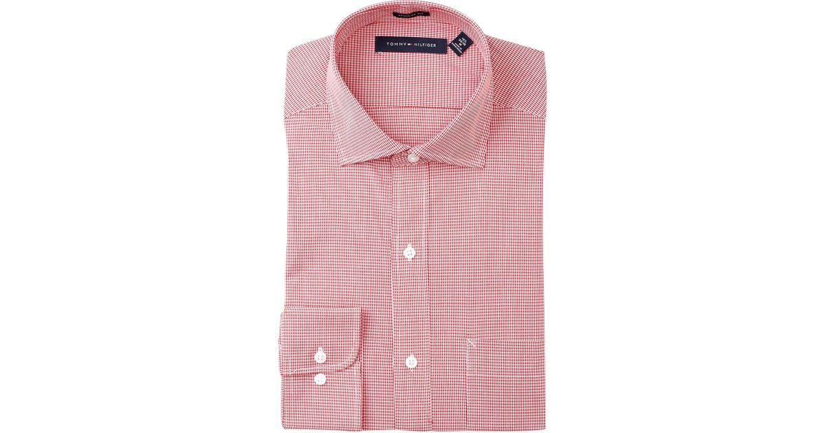 8946f032 Lyst - Tommy Hilfiger Howard Micro Gingham Regular Fit Dress Shirt in Pink  for Men