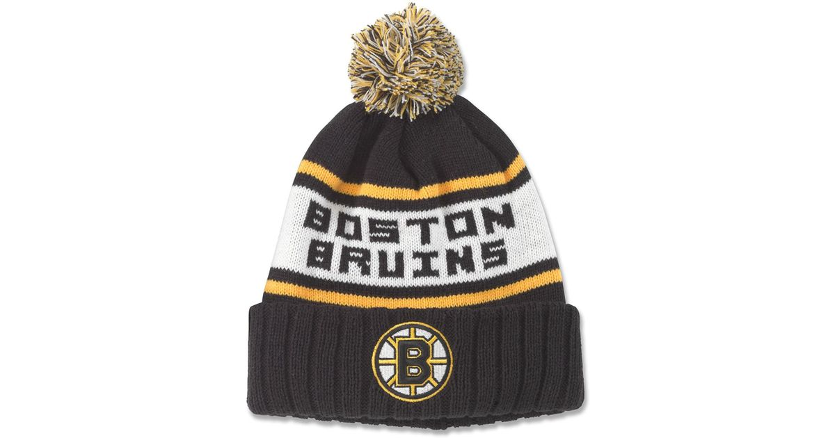 97e9c3e45b995b Lyst - American Needle Nhl Boston Bruins Pillow Line Knit Beanie in Black  for Men
