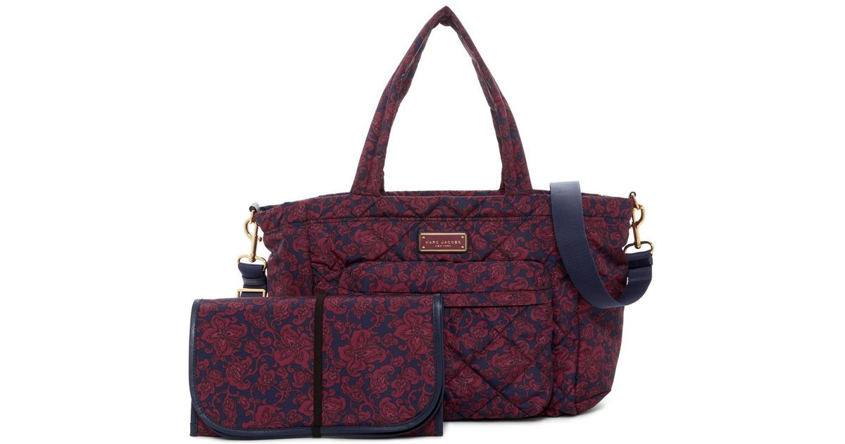 Lyst Marc Jacobs Quilted Mini Paisley Baby Bag Changing Pad In Purple