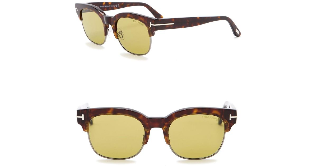 5289e9a9ae5 Lyst - Tom Ford Harry 51mm Clubmaster Sunglasses for Men