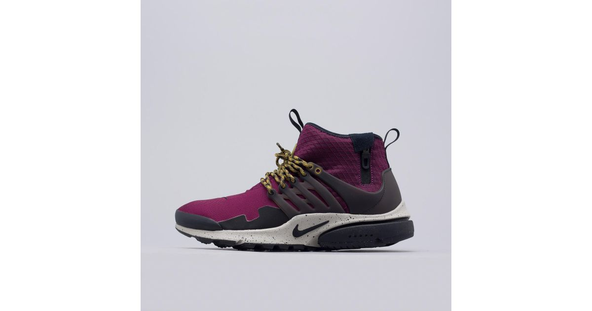 reputable site 84191 65027 Lyst - Nike Air Presto Mid Utility In Bordeaux for Men