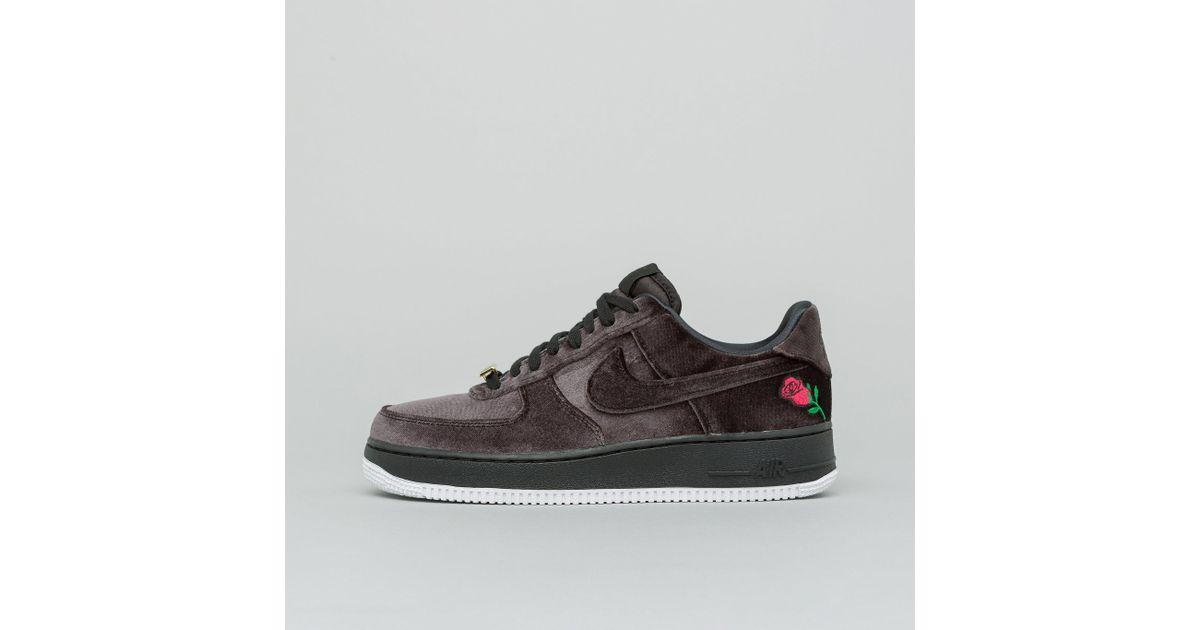 online store db07a bac02 Lyst - Nike Air Force 1 07 Qs Velvet In Black in Black for Men