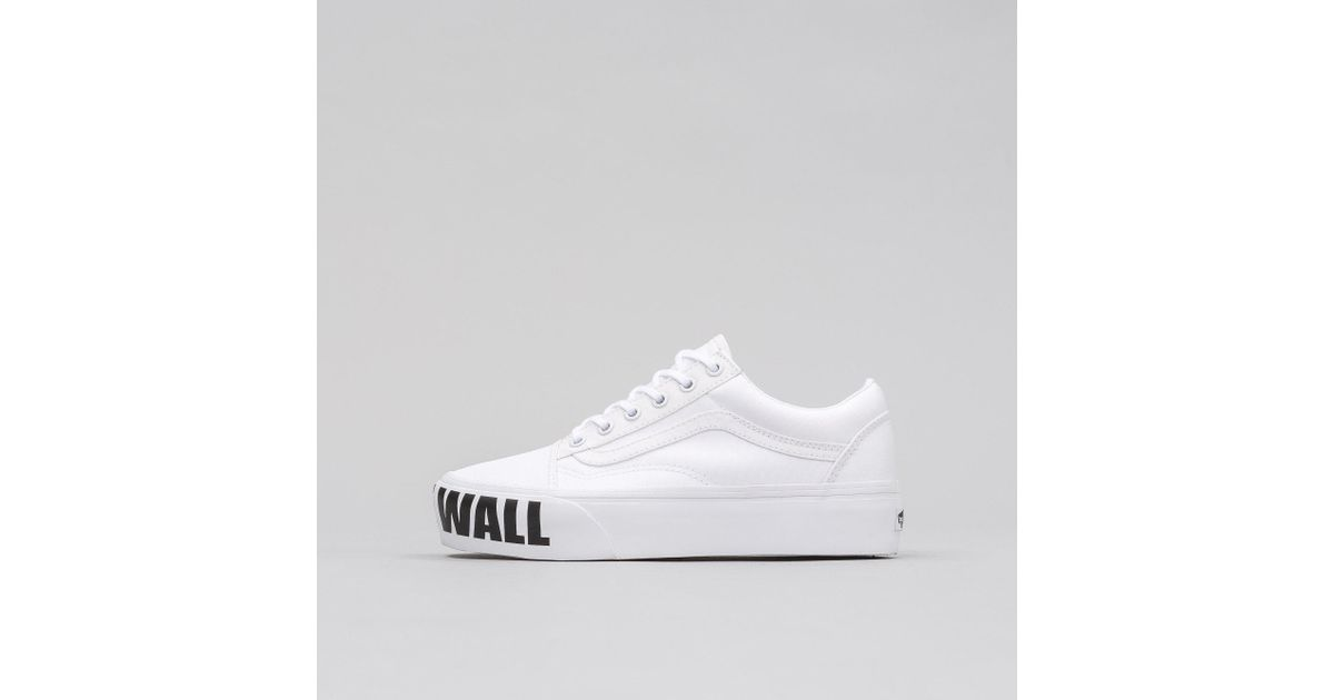 Lyst - Vans Old Skool Platform Off The Wall in White for Men 529fdbfc2f