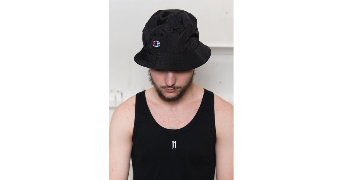 6dc7c6454cc Lyst - Champion X Beams  Packable Bucket Hat in Black for Men
