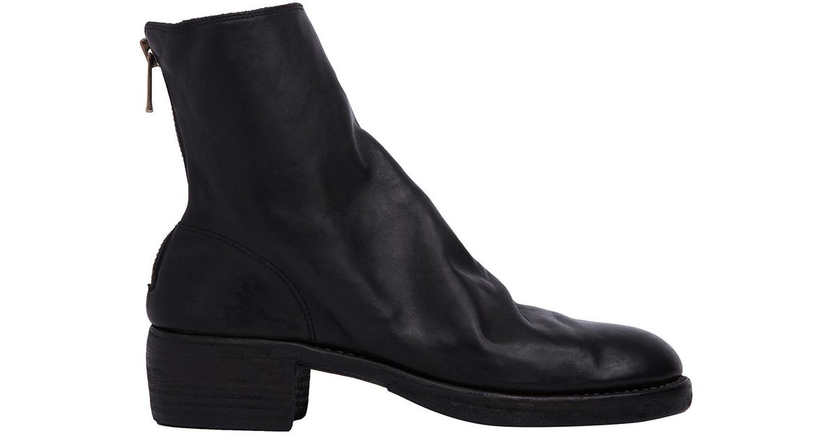 GUIDI Full Grain Zip-Up Leather Ankle Boots SXRQRpkQlr
