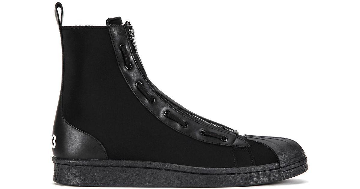 4721c2e17 Lyst - Y-3 Pro Zip High Top Sneaker in Black for Men