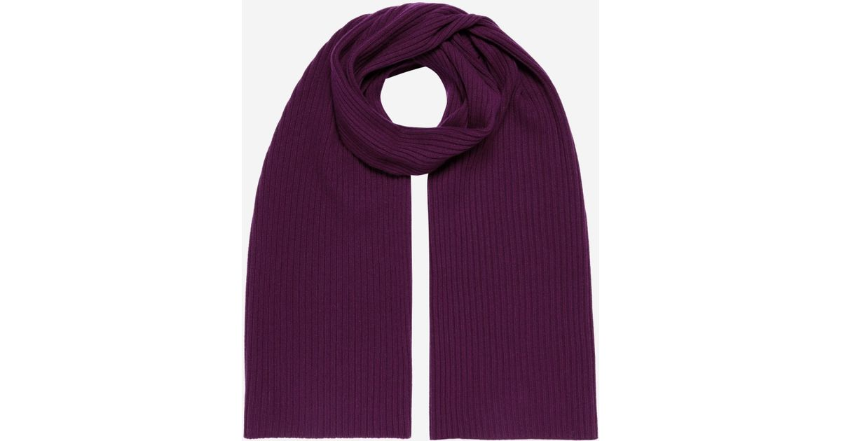 2cb3cacbc76 N.Peal Cashmere Short Ribbed Cashmere Scarf in Purple for Men - Lyst