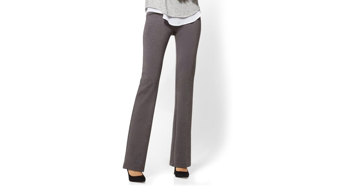 454694a618ee New York & Company Tall Bootcut Pull-on Pant - Signature Fit - 7th Avenue  in Gray - Lyst