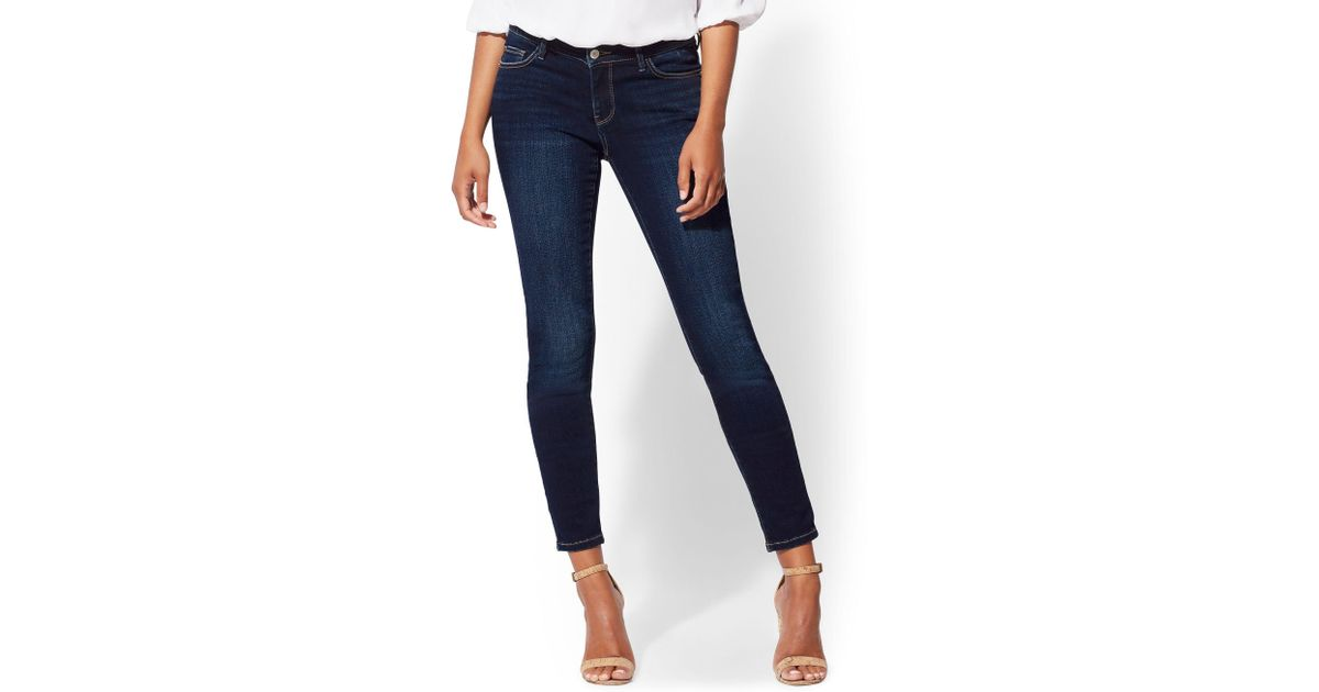 a96413ee320 Lyst - New York & Company Soho Jeans - Ny&c Runway - Super Stretch -tall  Curvy Legging in Blue