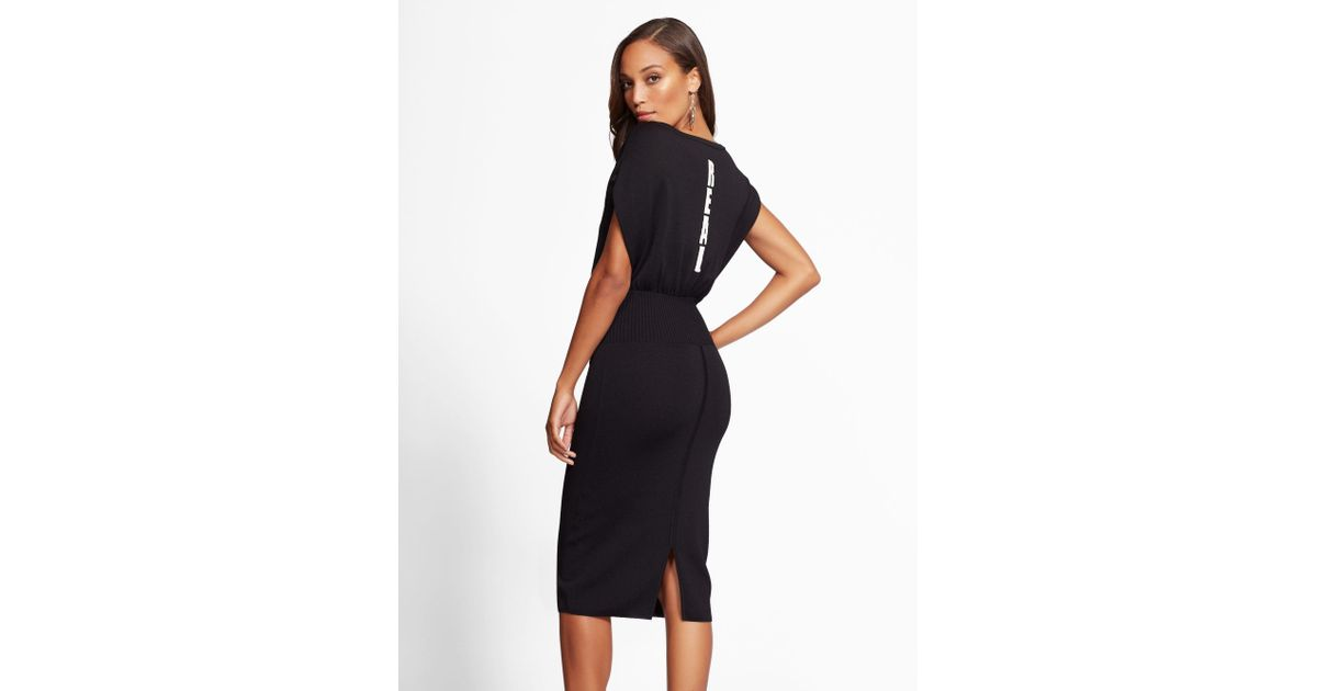 bc2fa4aa New York & Company Gabrielle Union Collection - 'real' Corset Sweater Dress  in Black - Lyst