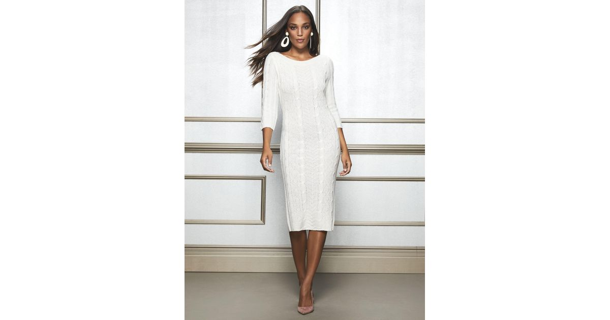 650e75b088f New York   Company Calina Sweater Dress - Eva Mendes Collection in White -  Lyst