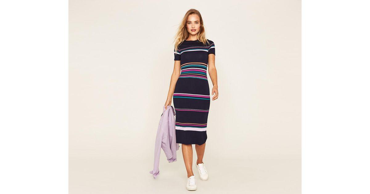 95903903b336 Oasis Frieda Stripe Tube Dress in Blue - Lyst