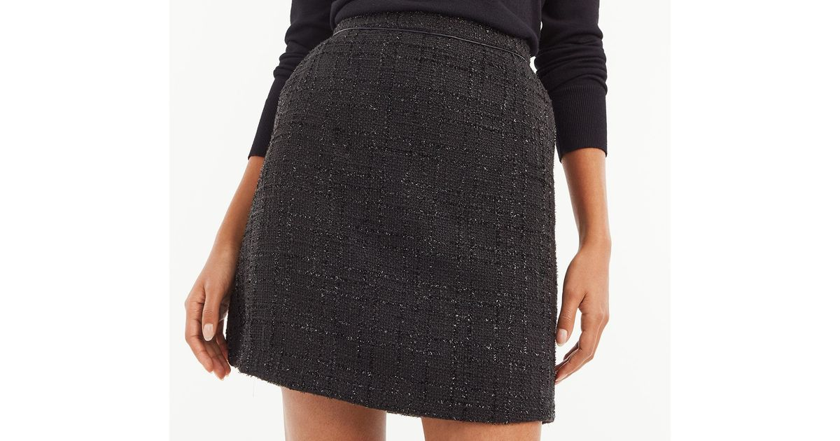 c280a530f428a8 Oasis Sparkle Tweed Skirt in Black - Lyst