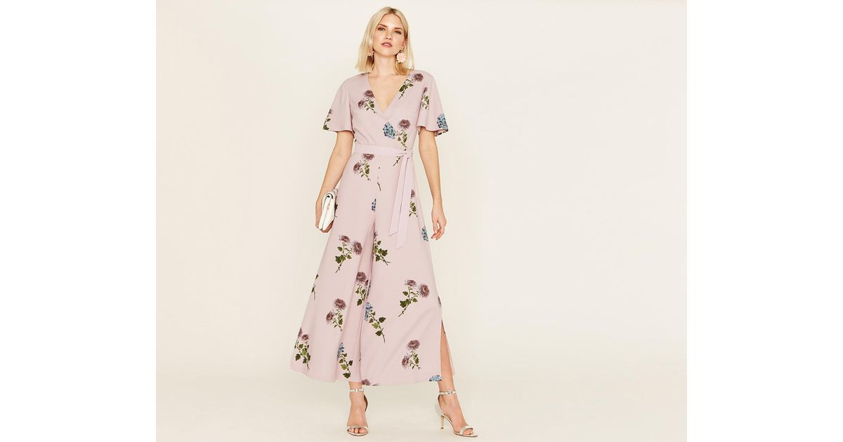 sale usa online first rate arrives Oasis Synthetic Nhm Floral Jumpsuit in Pale Pink (Pink) - Lyst