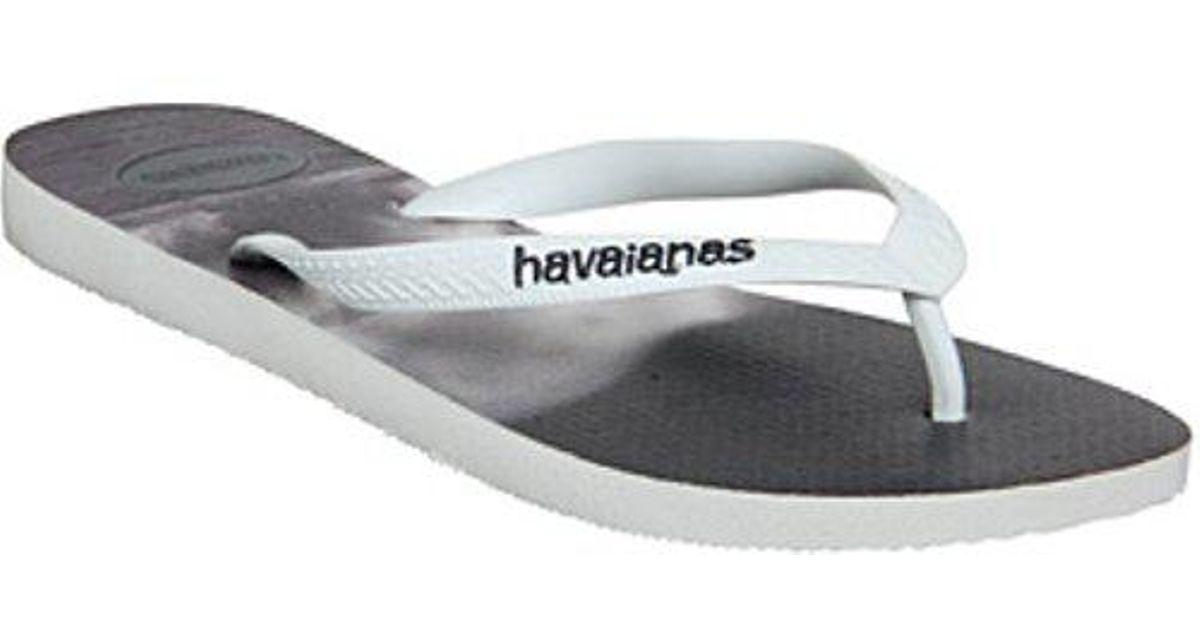 b17b1295d Lyst - Havaianas Hype Flip Flop in White for Men